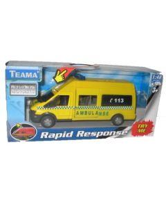 Ambulanse med batterifunksjon