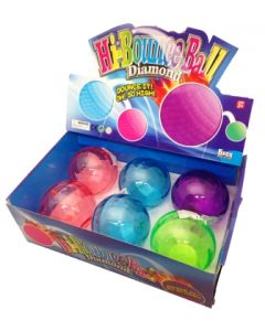 Sprettball - Diamantball assorterte farger Ø6cm - assortert pr.stk