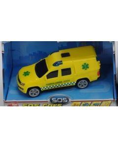 Ambulanse med lys og lyd - 14cm