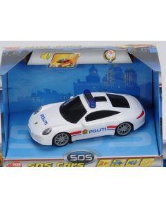 Politibil  med lys og lyd - 14cm