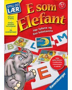 E som elefant lærespill