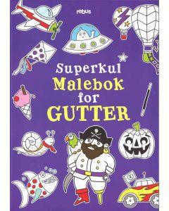 Superkul malebok for gutter
