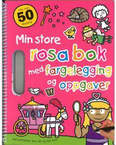 Aktivitetsbok - min store rosa bok