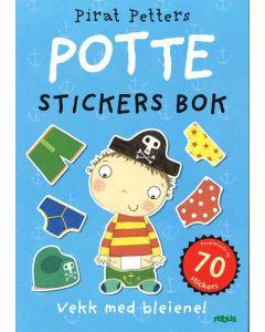 Pirat Petters pottebok - aktivitetsbok med 70 klistremerker