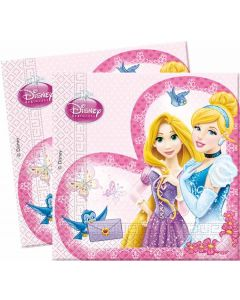 Disney Princess Servietter - 33 x 33 cm