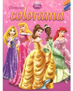 Malebok Disney  Princess domino colorama