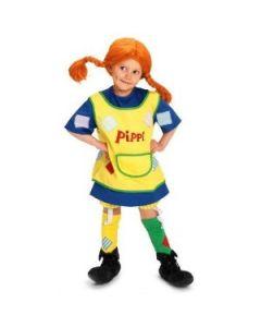 Pippi Langstrømpe Utkledningskjole Str 6 år
