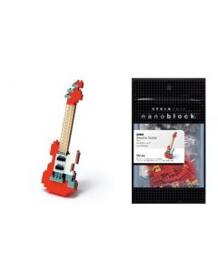 Nanoblock mini elektrisk gitar rød