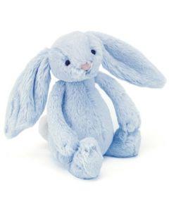 Jellycat kanin blå rangle i plysj - 18 cm