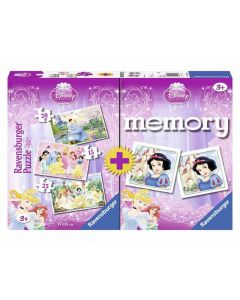 Ravensburger puslespill og memoryspill Disney Princess