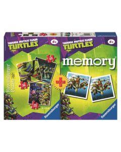 Turtles puslespill og memoryspill