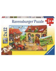 Ravensburger puslespill bondegård - 2x12