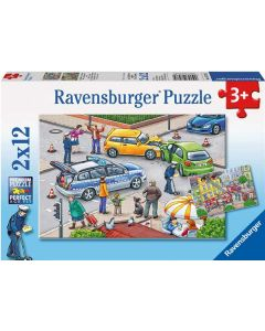 Ravensburger puslespill politiog brann - 2x12