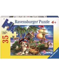Ravensburger puslespill hundepirat - 35 brikker