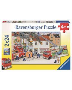 Ravensburger puslespill brannvesenet - 2x24