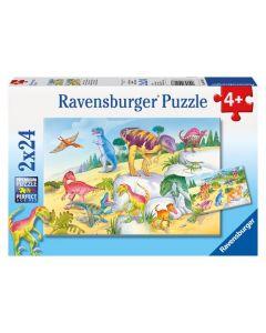 Ravensburger puslespill dinosaur - 2x24