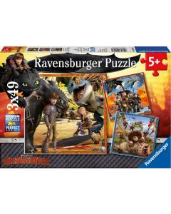 Ravensburger puslespill Dragon Riders - 3x49
