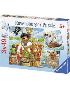 Ravensburger puslespill pirater - 3x49