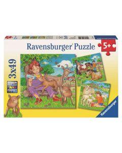 Ravensburger puslespill kjæledyr - 3x49