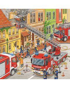 Ravensburger puslespill brannvesen - 3x49
