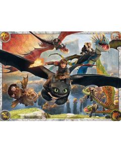 Ravensburger puslespill Dragon Riders how to train the dragon - 150 brikker