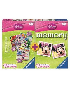 Ravensburger puslespill og memoryspill Minnie Mouse