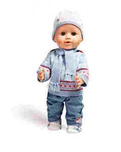Heless genser og bukse 35-45 cm - Blå genser med bukse