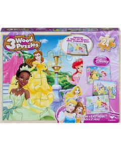 Disney Princess 3 puslespill i treboks