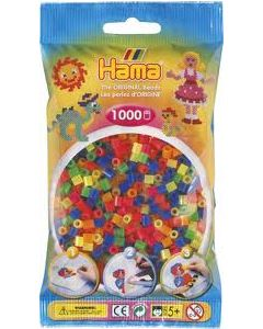 Hama Midi 1000 perler assortert klare farger