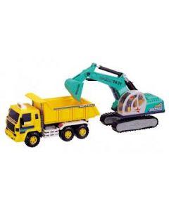 Daesung Toys dumper og gravemaskin