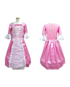 Prinsessekjole rosa 5/7 år