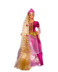 Steffi Love Rapunzel prinsessedukke med børste - mørk rosa
