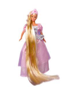 Steffi Love Rapunzel prinsessedukke med børste - lys rosa