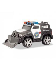 Politibil med frontskuffe 13 cm