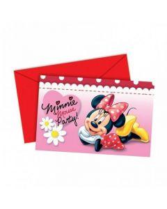 Disney Minnie Mouse Invitasjoner - 6 stk