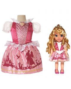 Disney Princess Aurora-dukke og Aurora-kjole gavesett