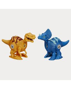 Jurassic Park Brawlasaur Versus Pack - Tyrannosaurus vs.Triceratops