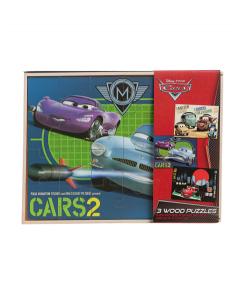 Disney Cars 3 puslespill i treboks