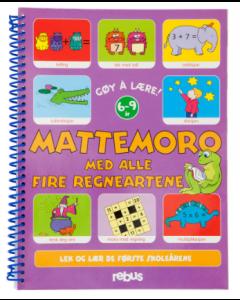 Mattemoro med alle fire regneartene