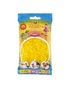 Hama Midi 1000 perler gule gjennomsiktige