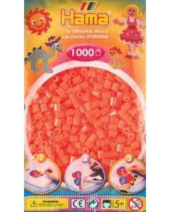 Hama Midi 1000 perler oransje gjennomsiktige