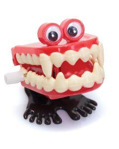 Vampyrtenner  med øyne og føtter 5cm - assorterte farger