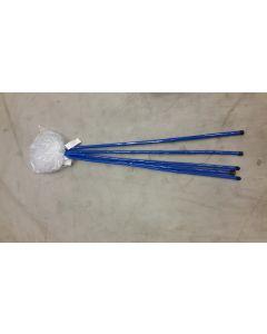Sommerfuglhov - blå med hvit 100stk.i eske