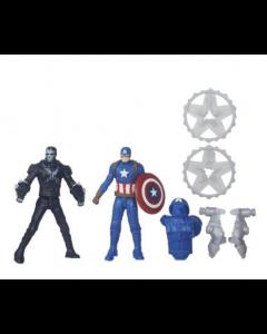 Avengers figursett 6cm  - Captain America Vs. Marvel's Crossbones