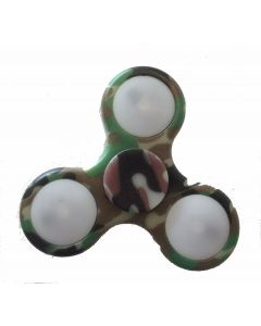 Fidget Spinner med lys - kamuflasje