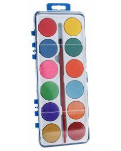 Maleskrin med 12 farger og pensel