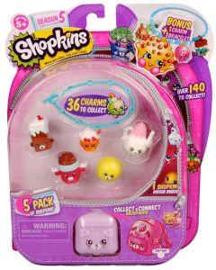 Shopkins 5 pack - sesong 5 - samlefigurer