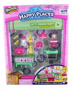 Shopkins Happy Places interiørsett - sesong 1 - Kitty Dinner
