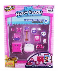 Shopkins Happy Places interiørsett - sesong 1 - Slumber Bear Party