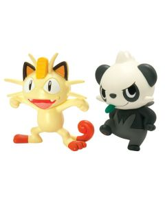 Pokemon battle figures - Meowth vs Pancham